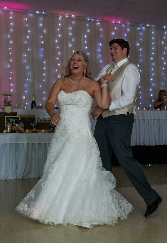 picture of bride and groom dancing