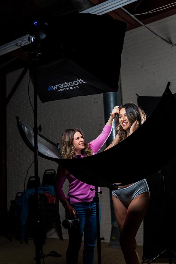 Image of Jen Rozenbaum with her boudoir model