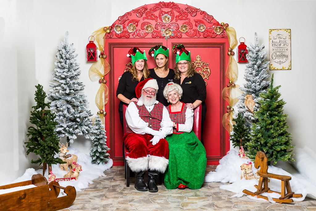 image of real estate agents with Santa Claus