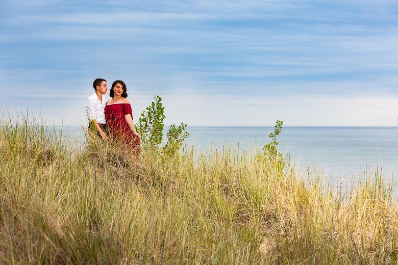 image of engagement photo session at the beach
