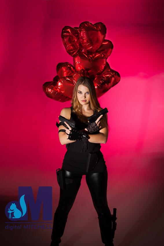 valentine girl with guns
