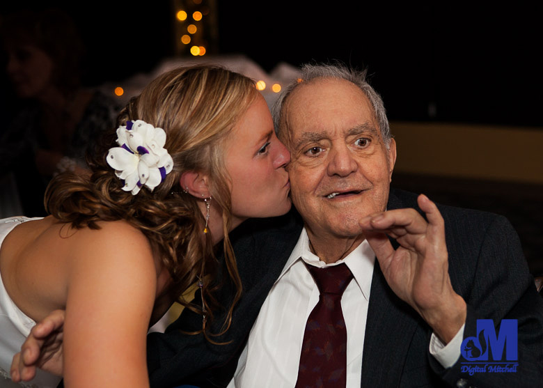 Photograph of Grandfather and bride at wedding