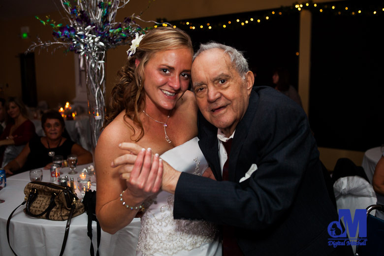 Photograph of dancing Grandfather and Bride at wedding