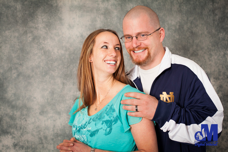 The loving couple and their maternity photo session