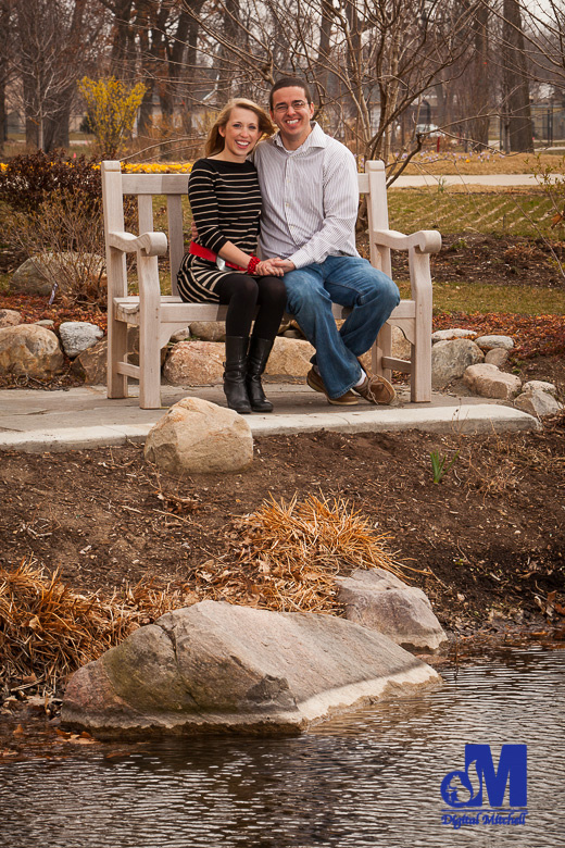 Photograph of Engagement in chair by water