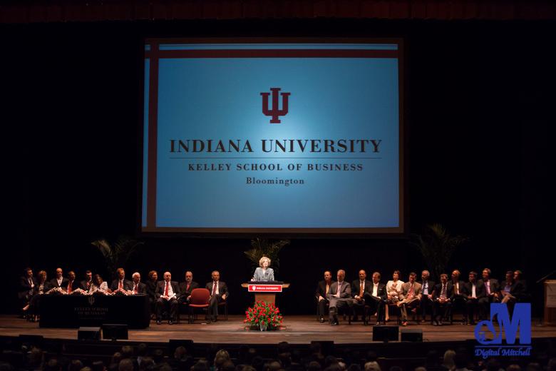 Photograph of graduation ceremonies at IU