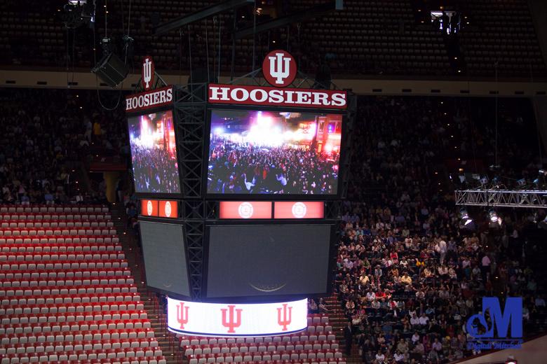 Photograph of graduation sign at IU