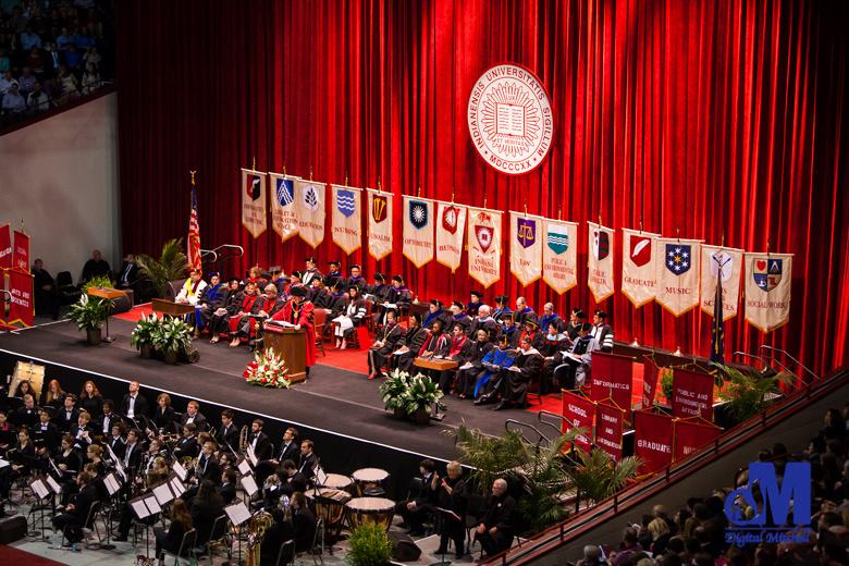 Graduation ceremony at IU photograph