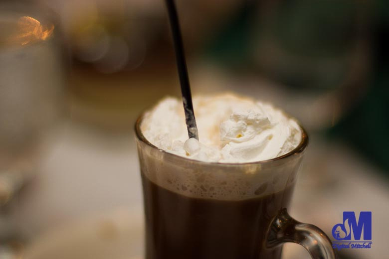 photograph of an after dinner drink with whipped cream