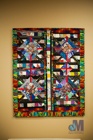 picture of colorful quilt at Elkhart Amazing Race 2014