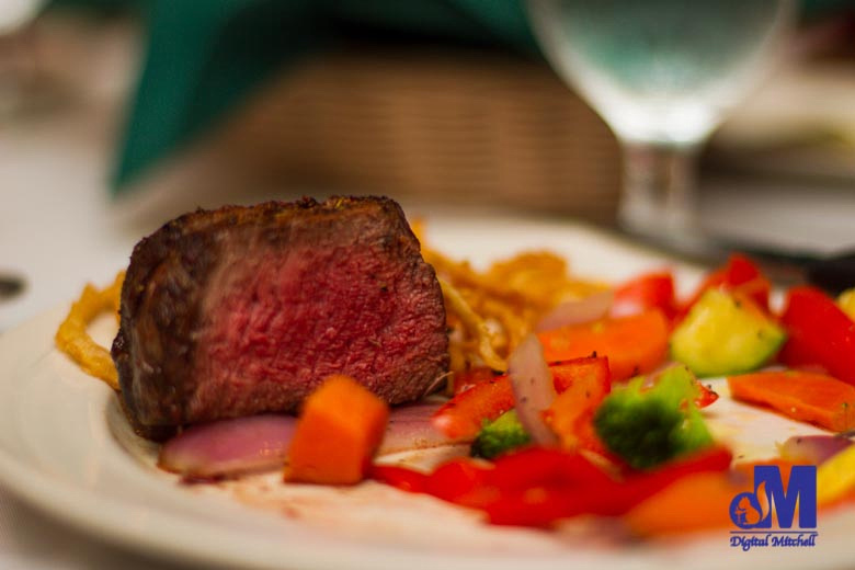 photograph of a plate of fillet steak