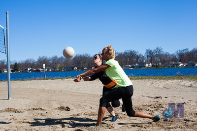 picture of beach volleyball at Elkhart Amazing Race 2014