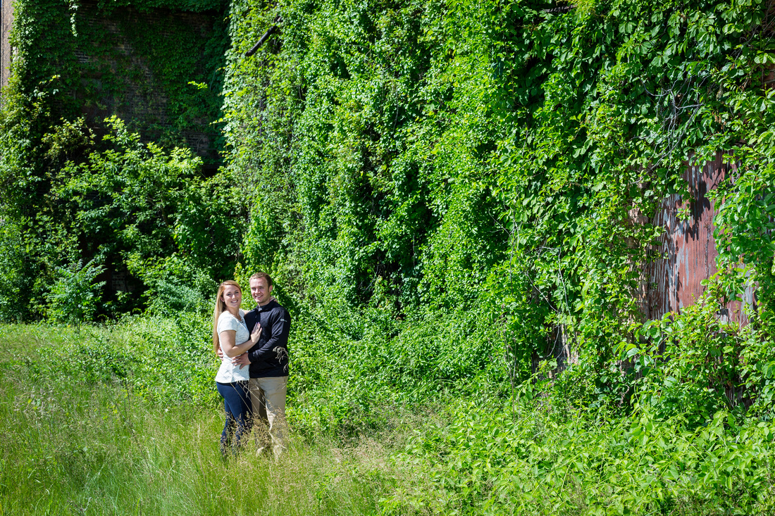 Picture of engagement session in the garden