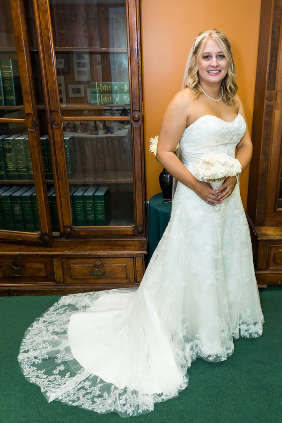 picture of bride in her wedding gown