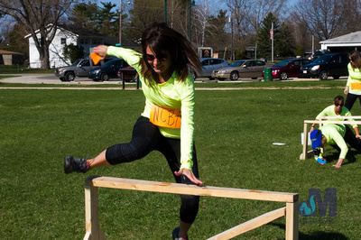 picture of girl jumping at Elkhart Amazing Race 2014