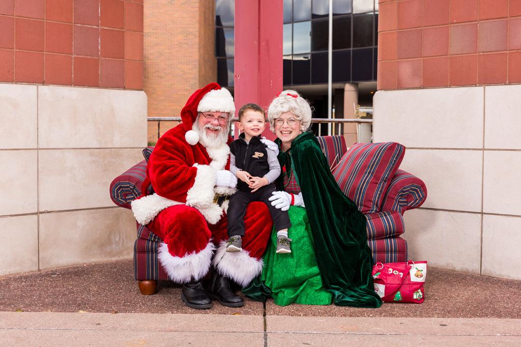 picture of little boy on Santa's lap
