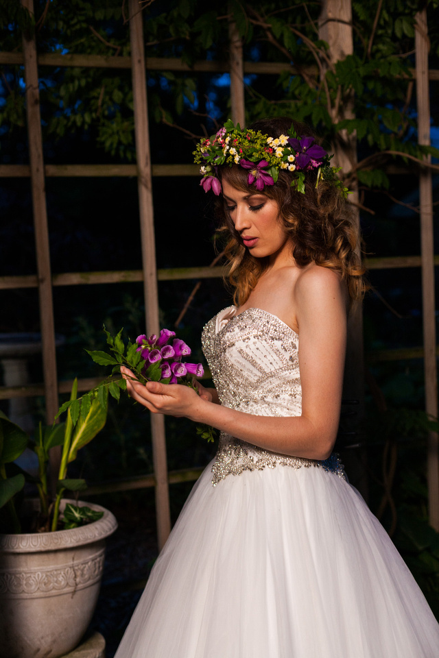 picture of bride wearing flowers