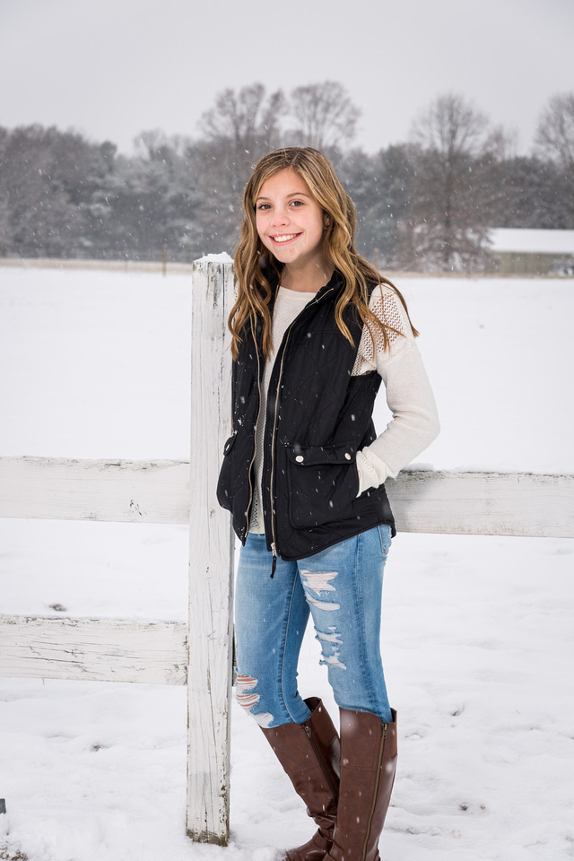 picture of girl in snow