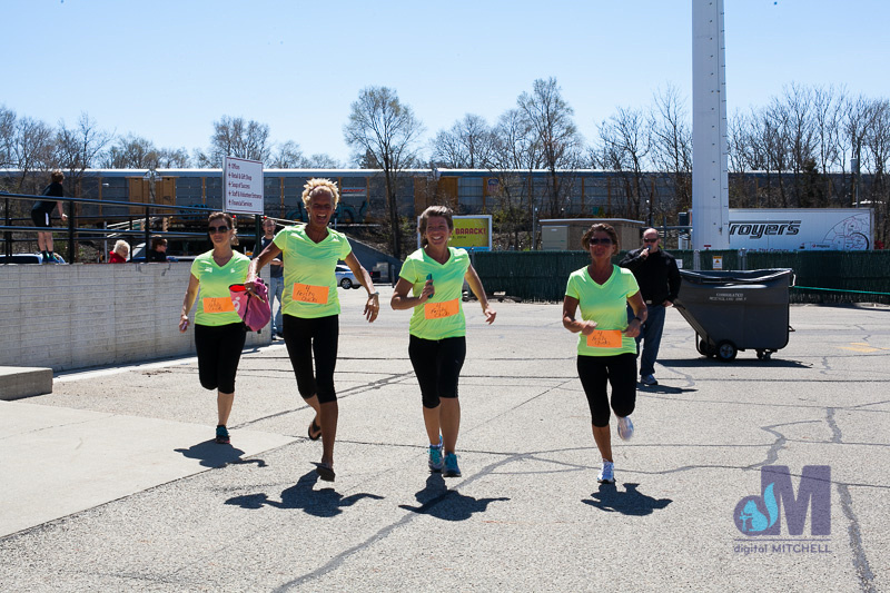 picture of the green team finish line at the Elkhart Amazing Race 2014