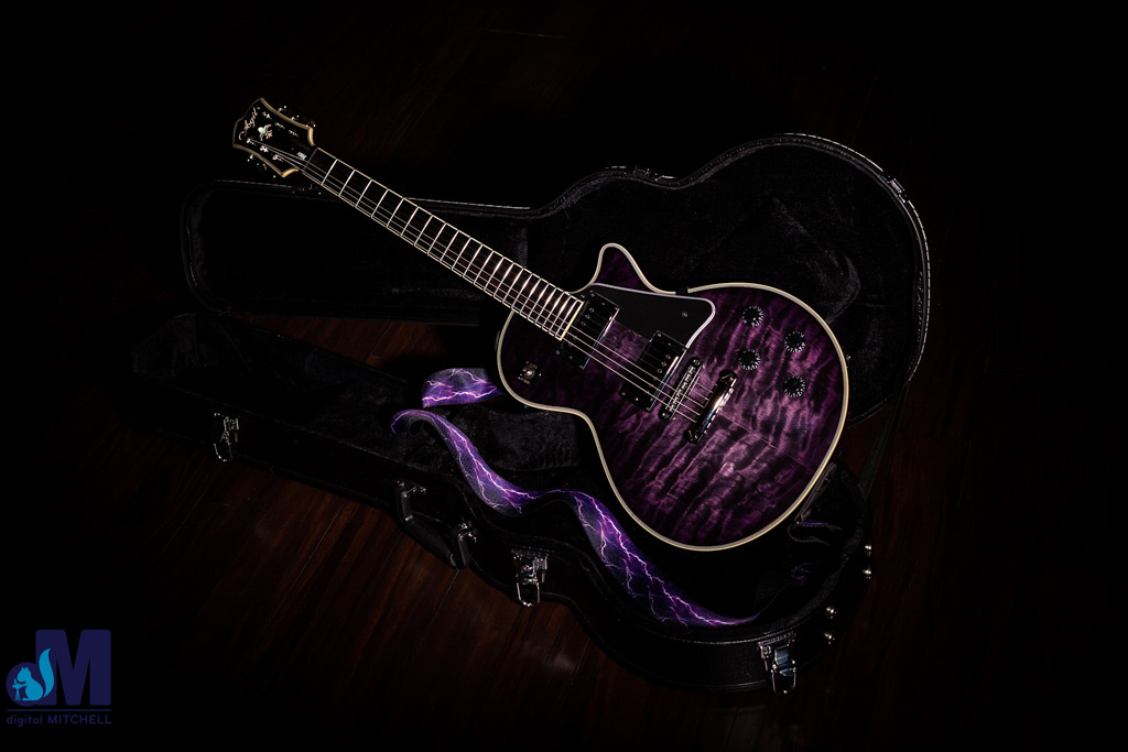 Photograph of Purple Guitar