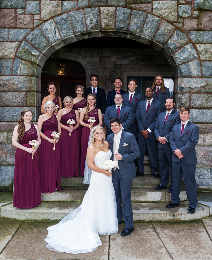 photograph of the wedding party
