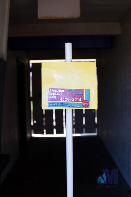 picture of instructions at Ideal Beach during the Elkhart Amazing Race 2014