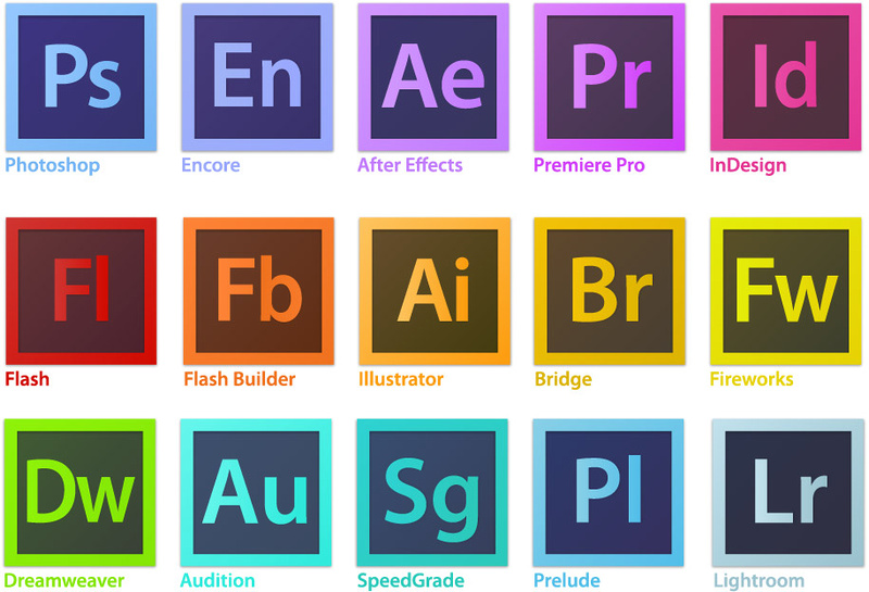Adobe Creative Cloud Suite logos